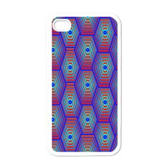 Red Blue Bee Hive Apple Iphone 4 Case (white)