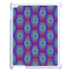 Red Blue Bee Hive Apple Ipad 2 Case (white)