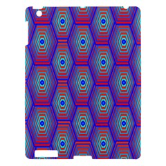 Red Blue Bee Hive Apple Ipad 3/4 Hardshell Case