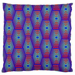 Red Blue Bee Hive Large Cushion Case (two Sides)
