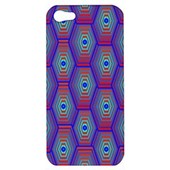 Red Blue Bee Hive Apple Iphone 5 Hardshell Case