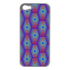 Red Blue Bee Hive Apple Iphone 5 Case (silver)