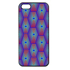 Red Blue Bee Hive Apple Iphone 5 Seamless Case (black)