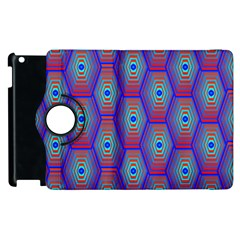 Red Blue Bee Hive Apple Ipad 2 Flip 360 Case