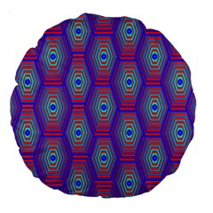 Red Blue Bee Hive Large 18  Premium Round Cushions
