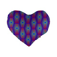 Red Blue Bee Hive Standard 16  Premium Heart Shape Cushions
