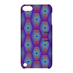 Red Blue Bee Hive Apple Ipod Touch 5 Hardshell Case With Stand