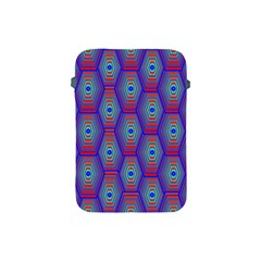 Red Blue Bee Hive Apple Ipad Mini Protective Soft Cases