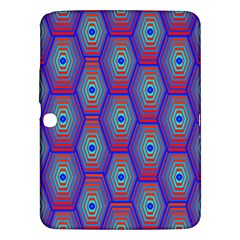 Red Blue Bee Hive Samsung Galaxy Tab 3 (10 1 ) P5200 Hardshell Case