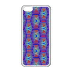 Red Blue Bee Hive Apple Iphone 5c Seamless Case (white)