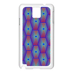 Red Blue Bee Hive Samsung Galaxy Note 3 N9005 Case (white)