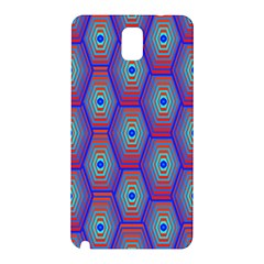 Red Blue Bee Hive Samsung Galaxy Note 3 N9005 Hardshell Back Case