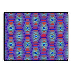 Red Blue Bee Hive Double Sided Fleece Blanket (small)