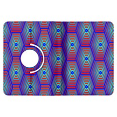 Red Blue Bee Hive Kindle Fire HDX Flip 360 Case