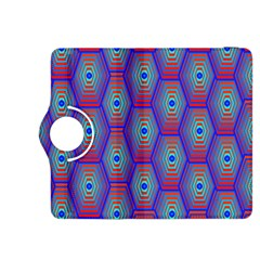 Red Blue Bee Hive Kindle Fire Hdx 8 9  Flip 360 Case