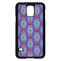 Red Blue Bee Hive Samsung Galaxy S5 Case (black)