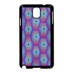 Red Blue Bee Hive Samsung Galaxy Note 3 Neo Hardshell Case (black)