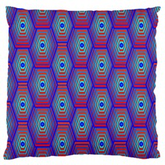Red Blue Bee Hive Standard Flano Cushion Case (one Side)