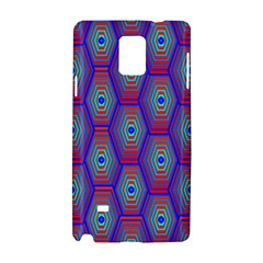 Red Blue Bee Hive Samsung Galaxy Note 4 Hardshell Case