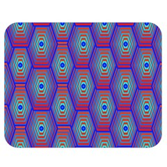 Red Blue Bee Hive Double Sided Flano Blanket (medium)