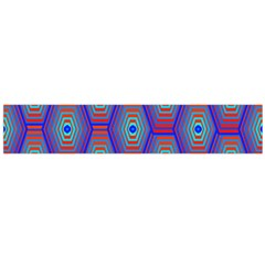 Red Blue Bee Hive Flano Scarf (large)