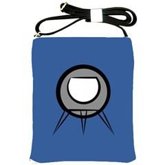 Rocket Ship App Icon Shoulder Sling Bags