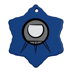 Rocket Ship App Icon Ornament (snowflake)
