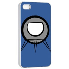 Rocket Ship App Icon Apple Iphone 4/4s Seamless Case (white)