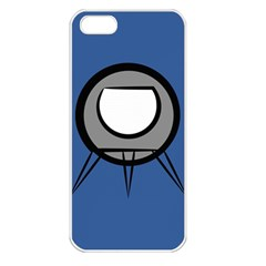 Rocket Ship App Icon Apple Iphone 5 Seamless Case (white)