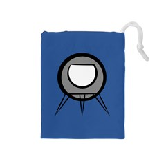 Rocket Ship App Icon Drawstring Pouches (medium)