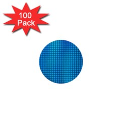Seamless Blue Tiles Pattern 1  Mini Buttons (100 Pack)