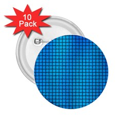 Seamless Blue Tiles Pattern 2.25  Buttons (10 pack)