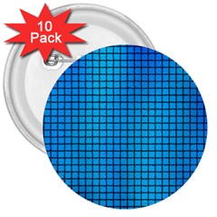 Seamless Blue Tiles Pattern 3  Buttons (10 Pack)