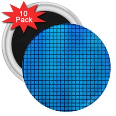 Seamless Blue Tiles Pattern 3  Magnets (10 Pack)