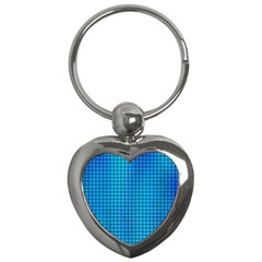 Seamless Blue Tiles Pattern Key Chains (heart)