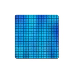 Seamless Blue Tiles Pattern Square Magnet