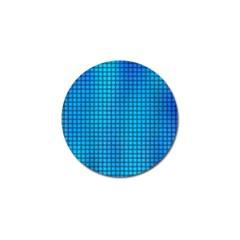 Seamless Blue Tiles Pattern Golf Ball Marker (4 Pack)