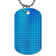 Seamless Blue Tiles Pattern Dog Tag (two Sides)