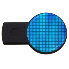 Seamless Blue Tiles Pattern Usb Flash Drive Round (2 Gb)