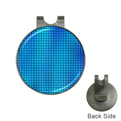 Seamless Blue Tiles Pattern Hat Clips With Golf Markers