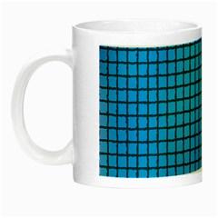 Seamless Blue Tiles Pattern Night Luminous Mugs
