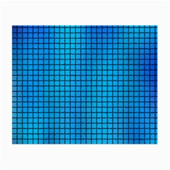 Seamless Blue Tiles Pattern Small Glasses Cloth