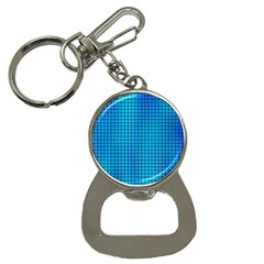 Seamless Blue Tiles Pattern Button Necklaces