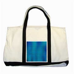 Seamless Blue Tiles Pattern Two Tone Tote Bag