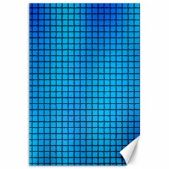 Seamless Blue Tiles Pattern Canvas 12  X 18