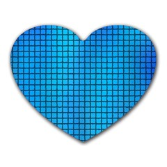 Seamless Blue Tiles Pattern Heart Mousepads
