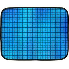 Seamless Blue Tiles Pattern Double Sided Fleece Blanket (mini)