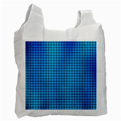 Seamless Blue Tiles Pattern Recycle Bag (one Side)