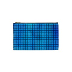 Seamless Blue Tiles Pattern Cosmetic Bag (small)