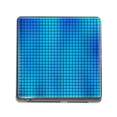 Seamless Blue Tiles Pattern Memory Card Reader (square)